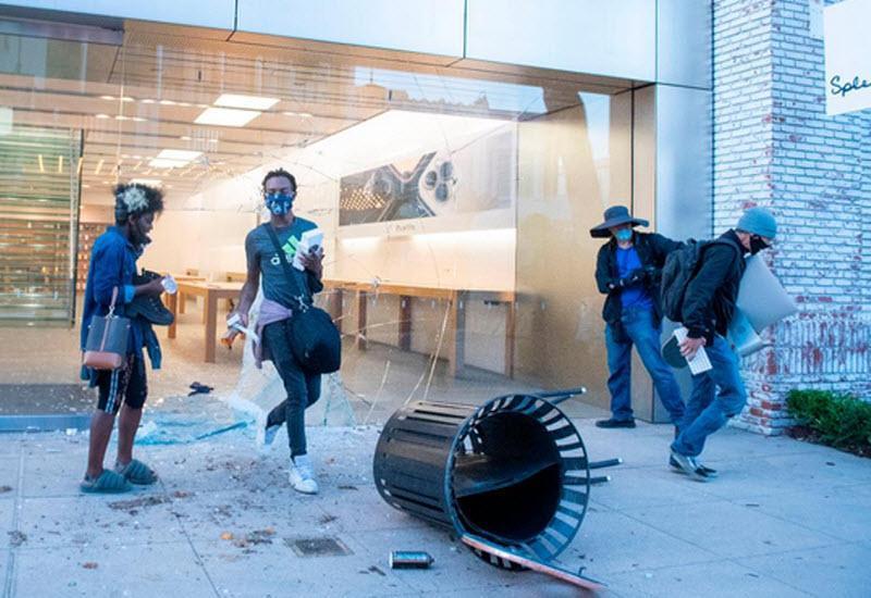 اخطار اپل به سارقان محصولات اپل در جریان ناآرامی های آمریکا: رهگیری می شوید!